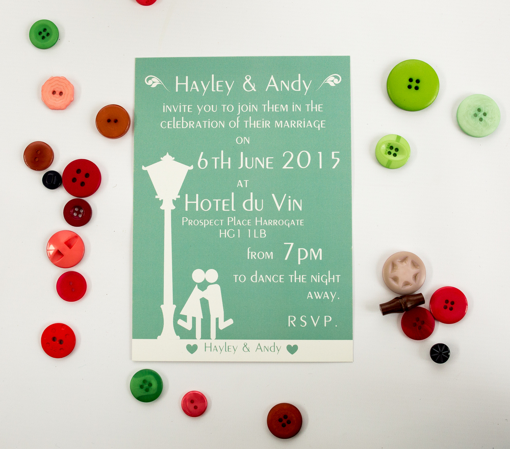 Cloche Flat Invitation/Evening Only Invitation