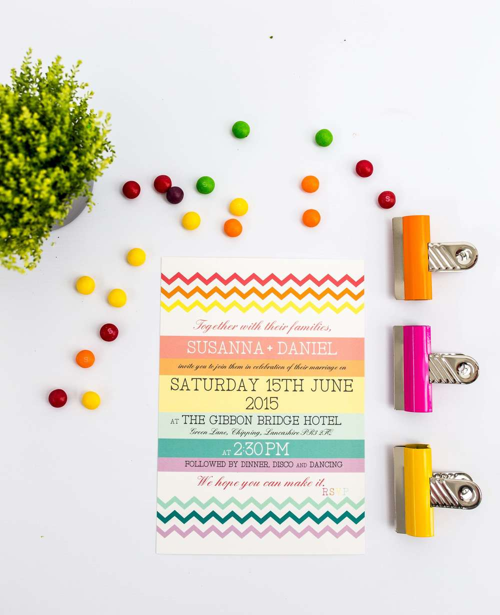 Rainbow Chevron Invitation Flat Front.jpg