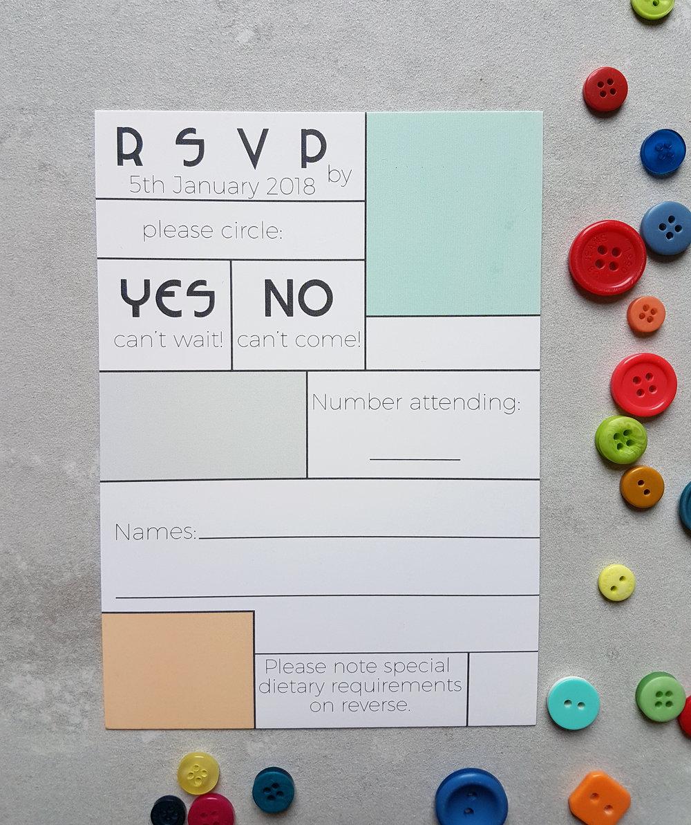 Mondrian RSVP Card