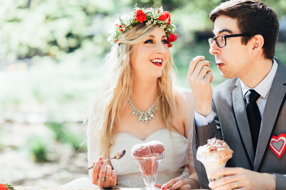 Vegan gelato at an Adelaide Hills Wedding