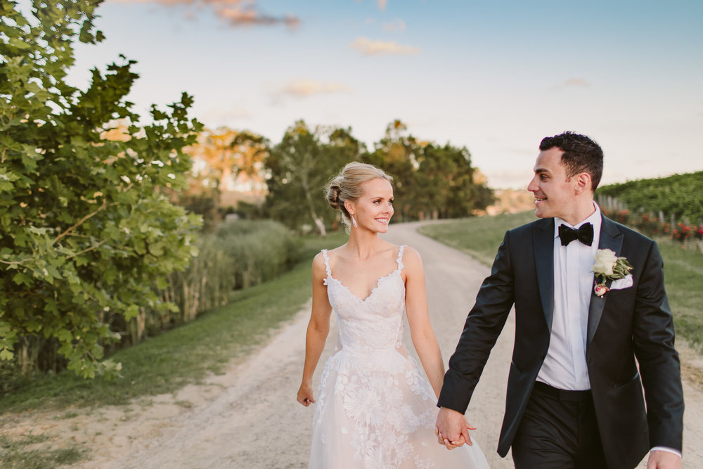 Emily & Stephen's elegant wedding in the Adelaide Hills at Golding Winery