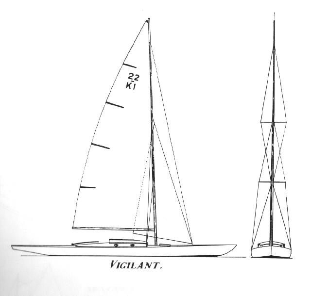 ....Uffa Fox design Vigilant, 1930. Skerrycruiser 22..Uffa Foxin suunnittelema 22 luokan saaristoristeilijä Vigilant, 1930....