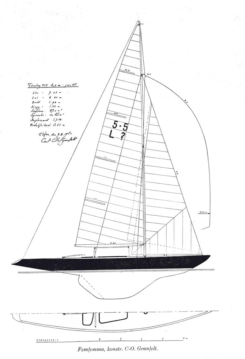 Carl Granfelt's 5.5 -design, 1950.