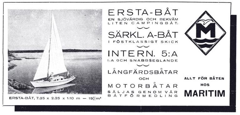 ....Ad in the Frisk Bris -magazine 1948..Airistoveneen myynti-ilmoitus Frisk Bris -lehdessä vuonna 1948....