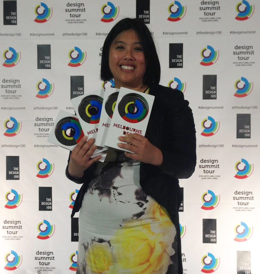 Co-founder, Eleena Tan at Melbourne Design Awards 2015.