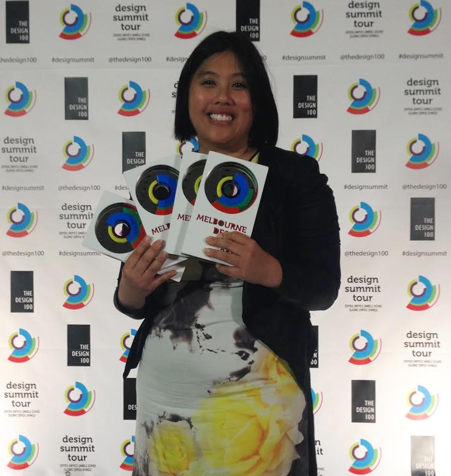 Co-founder, Eleena Tan at Melbourne Design Awards 2015.
