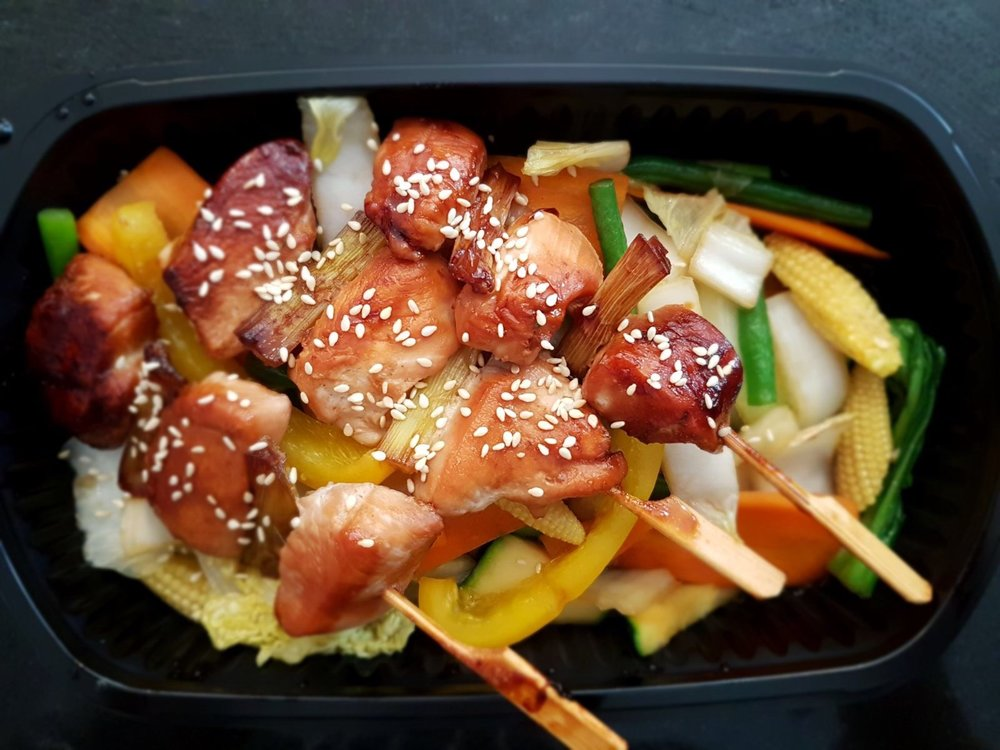 Chicken Teriyaki with Vegetables & Fried Rice