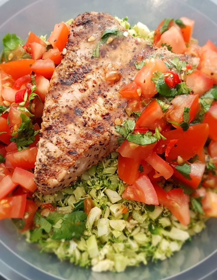 Grilled Tuna with Salsa