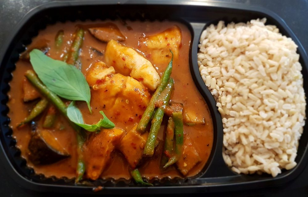 Thai Red Curry with Cod