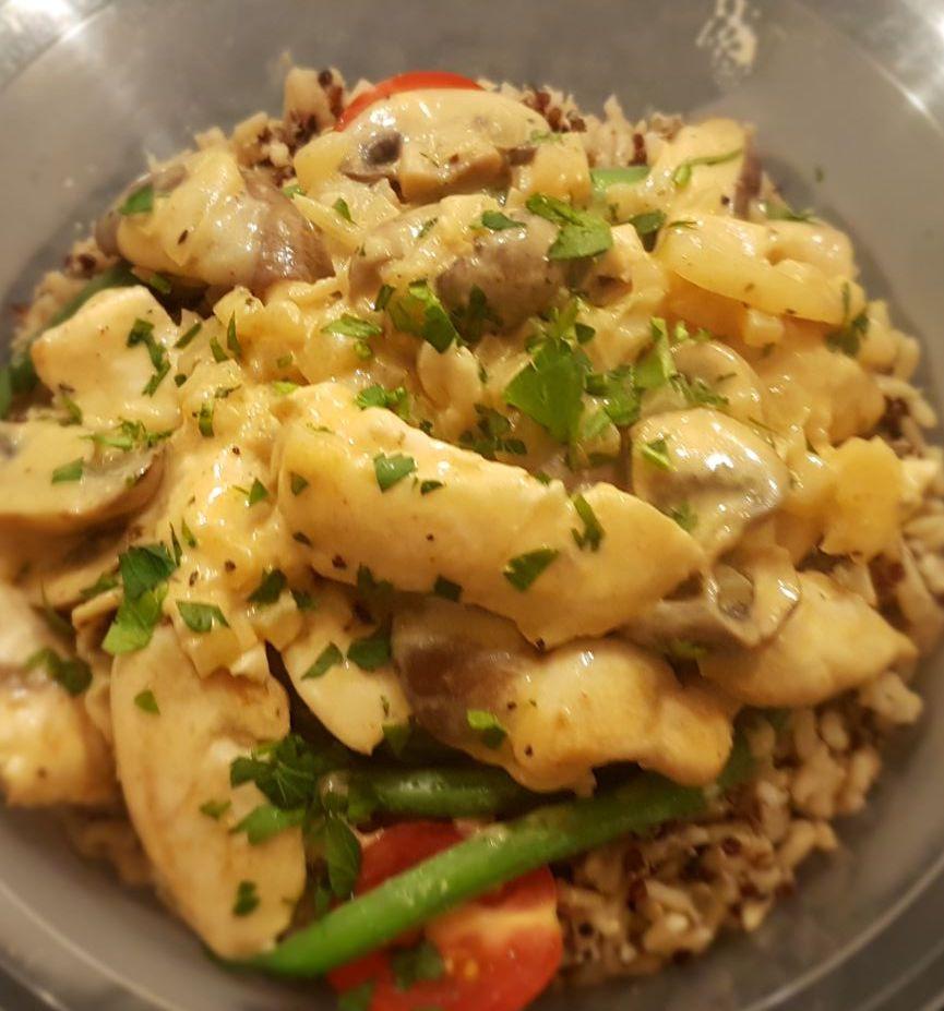 Chicken Mushroom Stroganoff
