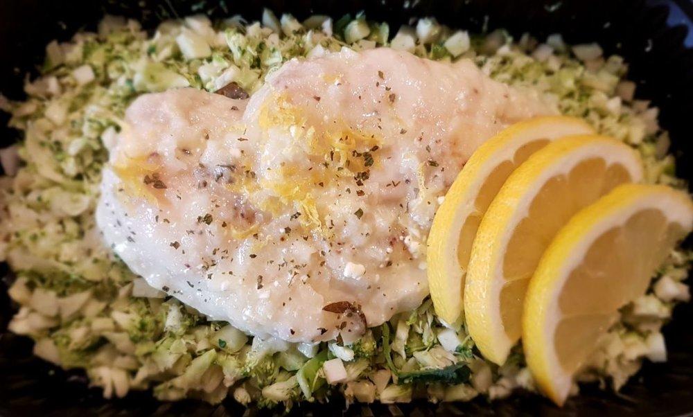 Lemon Chicken & Broccoli Rice