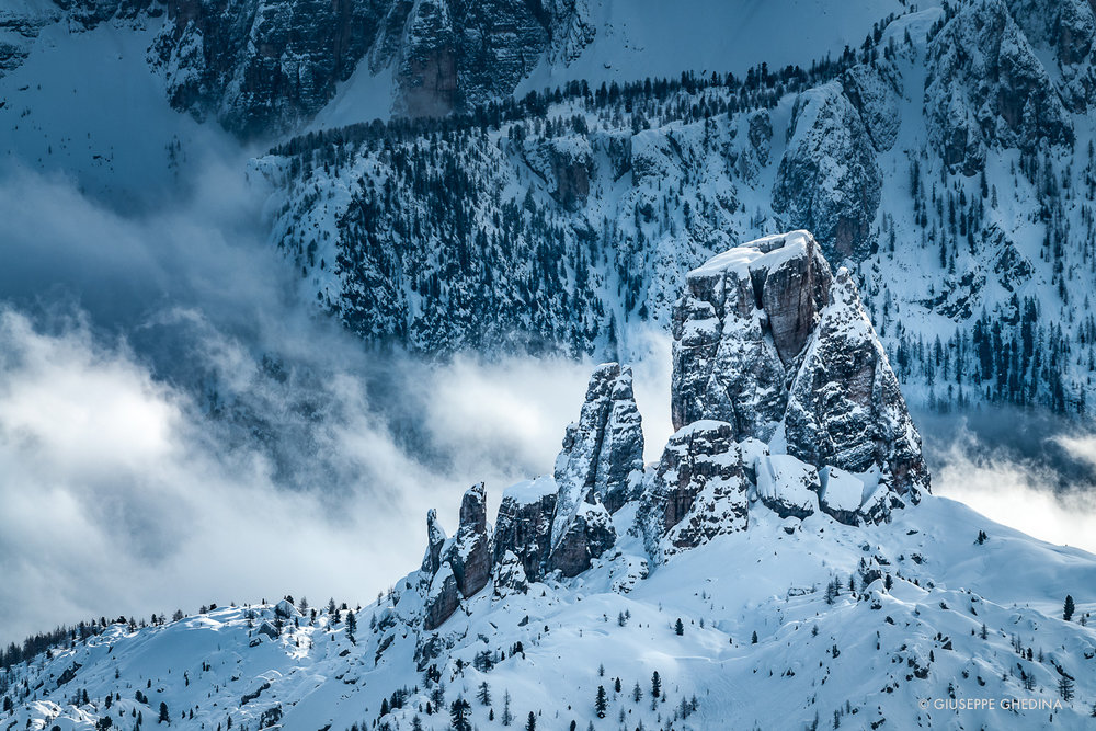 Inverno in Cinque Torri _ Photo @GIUSEPPEGHEDINA.COM