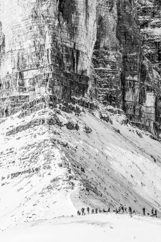 La parete della Piccolissima da Forcella Lavaredo _ Photo ©ROMINAVENIER