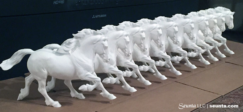 The herd of copperfox welsh cob resins cast by seUnta llc
