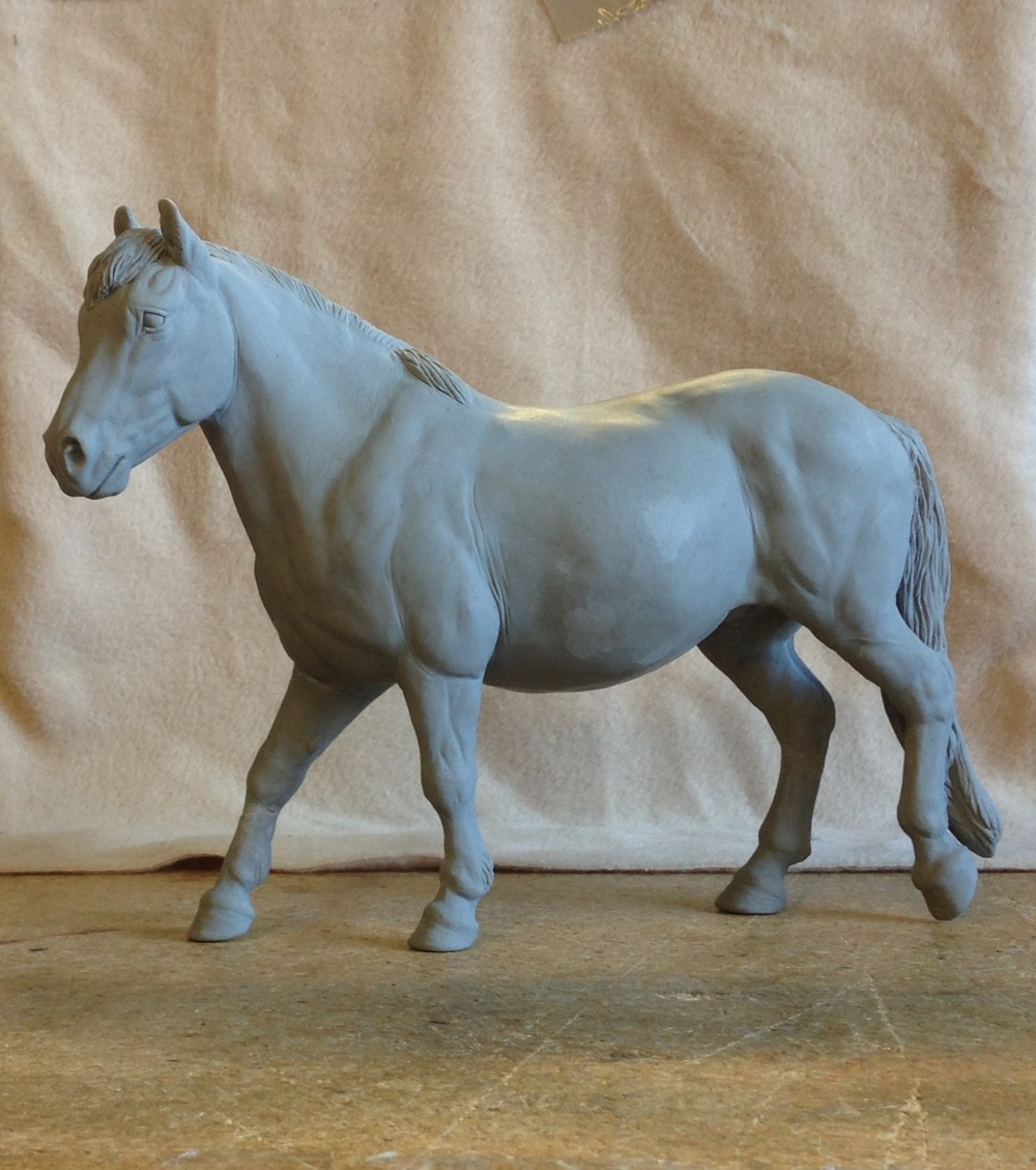 Original clay sculpture of exmoor pony dunkery belle