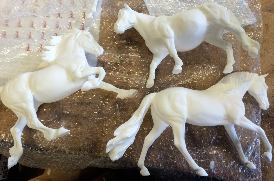 Resin Models trotting off to our factory