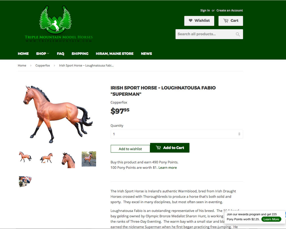 Copperfox Superman available direct from a US based model horse stockist