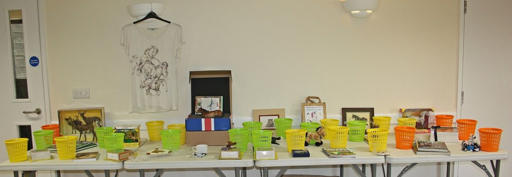 Some of the Raffle prizes on offer.