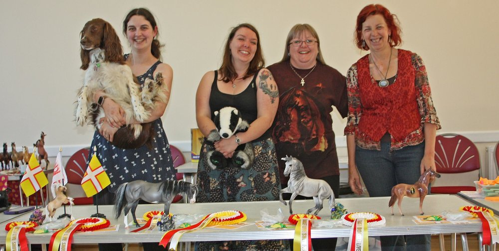 Left to Right: Catriona with Brandy, Dani with Badger, Jackie and Dorothy