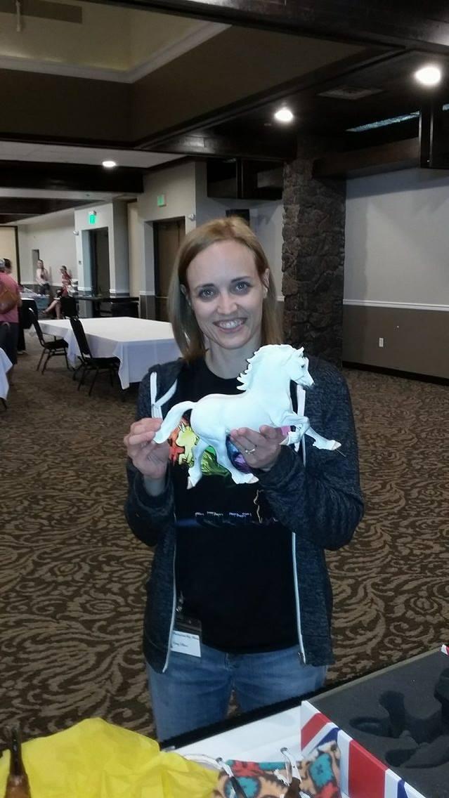Happy winner of the Copperfox Percival, Amy  Elkins.
