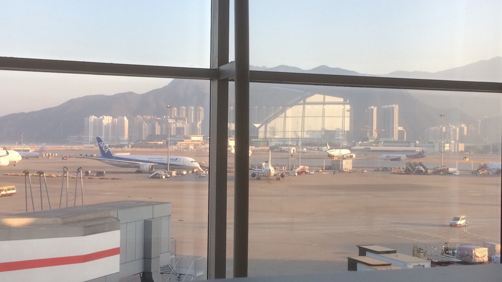 Hong Kong airport: time to go home. :)