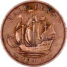 A Half Penny Coin