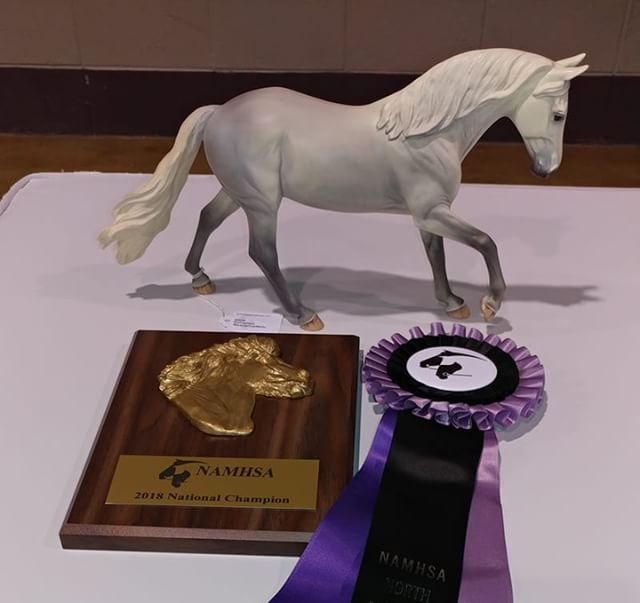 Wow! HUGE Congratulations to Linda and C.F Penelope on winning the 2018 National Champion Original Finish Breyer/ Other UK Pony Class at NAN. An amazing win! #gocopperfox #copperfoxshowring