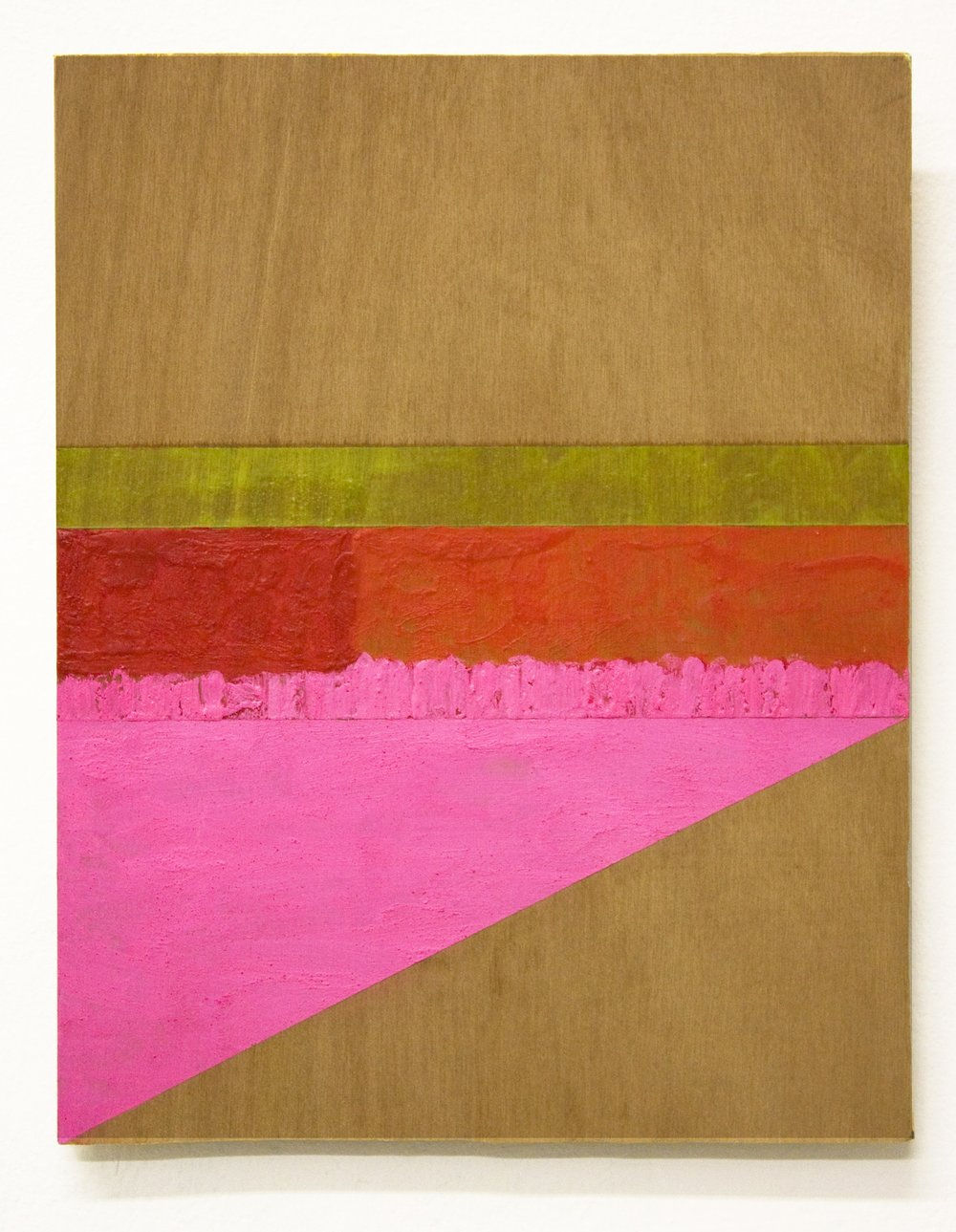 Untitled (Blinky Palermo series) , 2014   encaustic on plywood  27 x 21 cm  £800  [Ref. GK1]