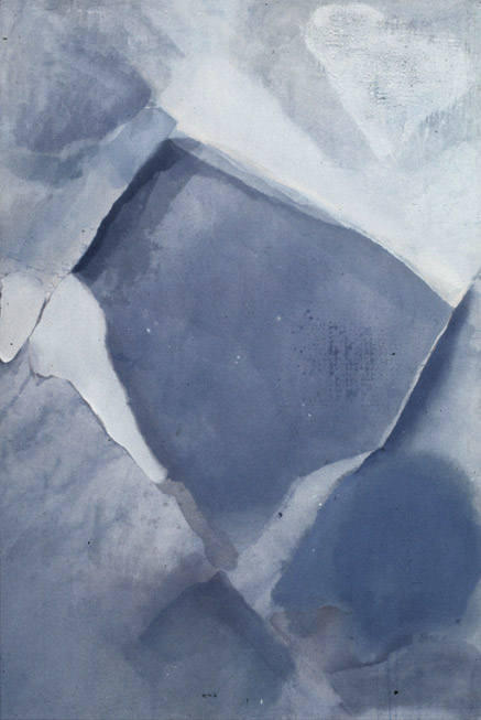 Valley (Blue) , 1977   acrylic on canvas  183 x 122 cm.  £16,000  [Ref. AW1]