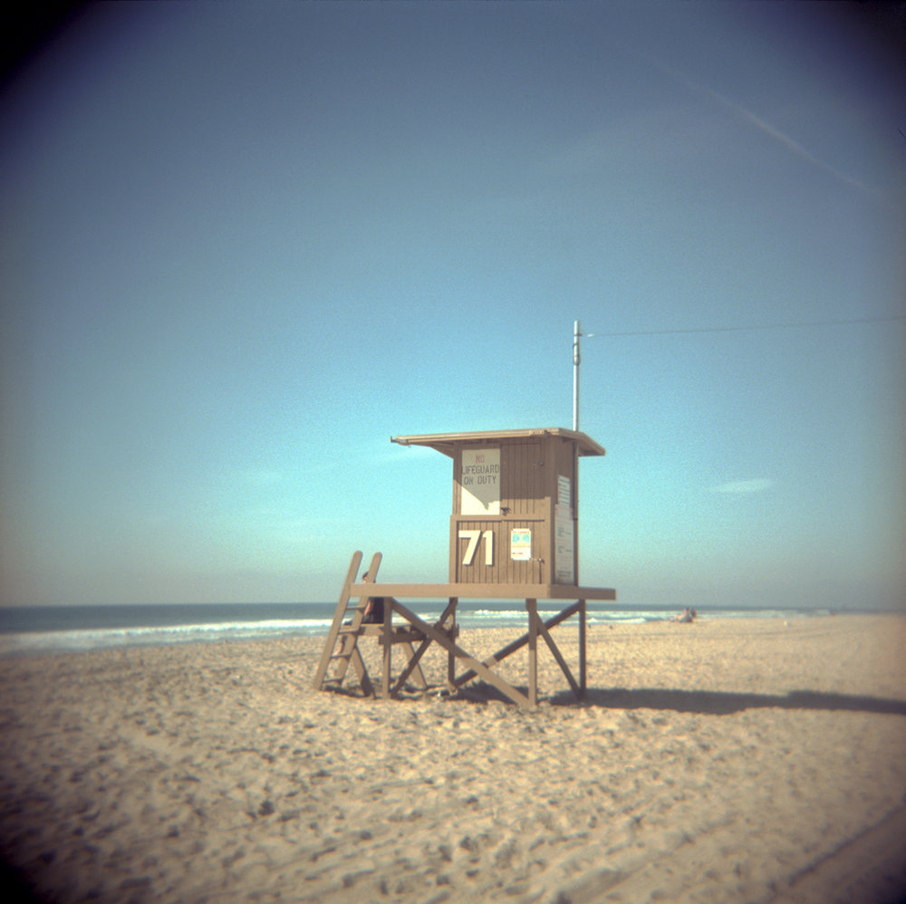 Lifeguard Station, Newport Beach , 2016   C-print from 35 mm slide  25.4 x 25.4 cm., ed. of 7 + AP  £620  [Ref. MJF1]
