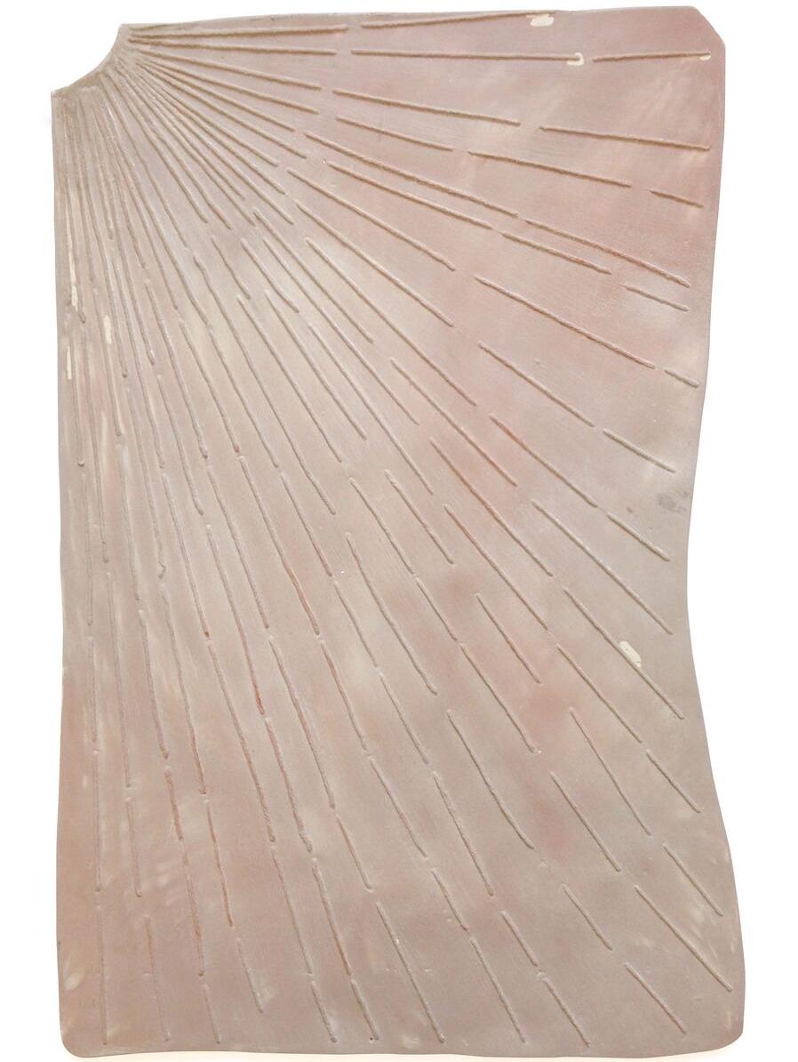 Sundial (first blush), 2017    jesmonite and pigments  65 x 42 cm.  £2,100  [Ref. AH3]