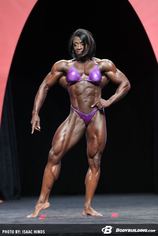 Iris Kyle, 8 times Ms. Olympia female bodybuilding champion. Professional bodybuilder. Courtesy of www.bodybuilding.com