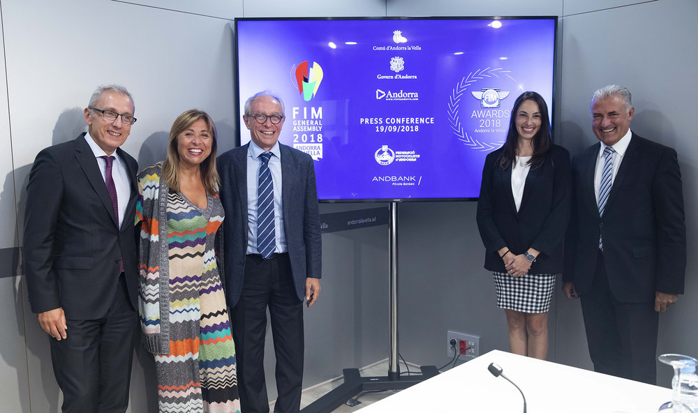 press conference organised by the Town Hall of Andorra la Vella at the Congress Centre