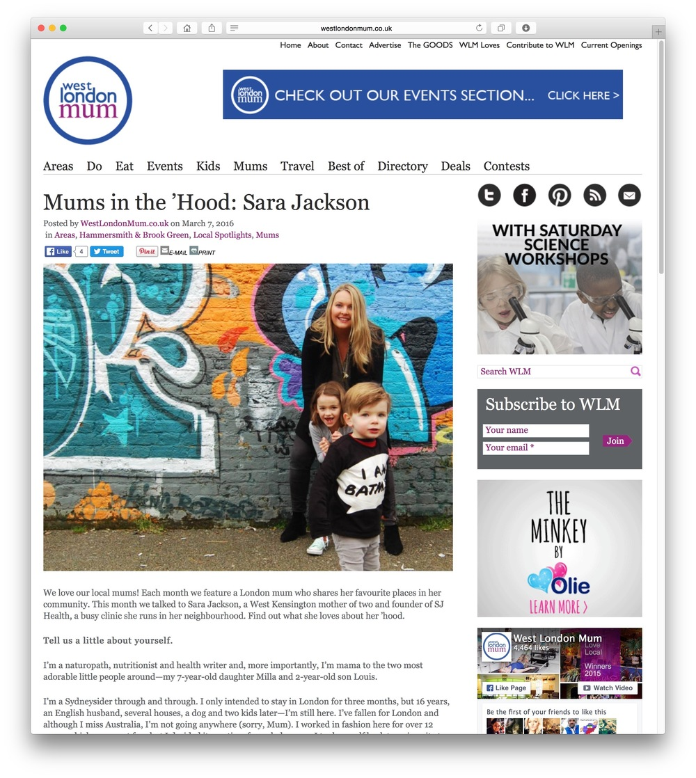 So excited to have been a featured 'Mum in the 'hood' for the month. Read the article here....