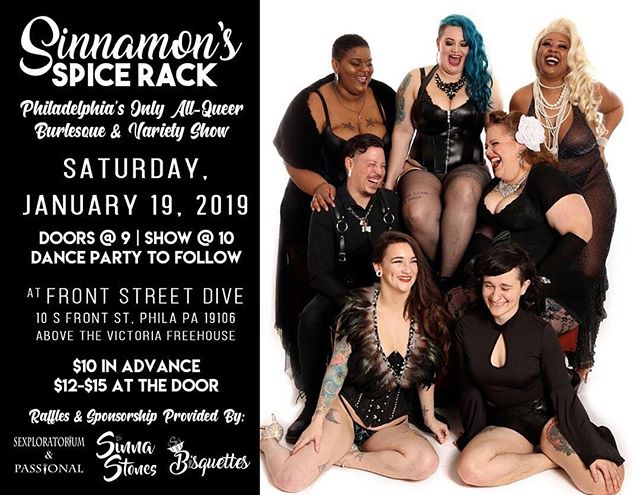 Repost from @sinnamonsspicerack using @RepostRegramApp - Our first show of 2019 is tonight, and we can't wait! Join the Spice Rack fam for a night of burlesque, drag, sideshow, and variety performances! Advanced tickets on sale for a few more hours - link in bio! 📷 @clicksavephoto - #philadelphiaburlesque #queerburlesque #sinnamonsspicerack #sinnamonburlyq #burlesque #nosetotherhinestone #queerlesque #burlesquedancer #dragqueen #phillydrag #phillyburlesque #thingstodoinphilly #thingstodoinphiladelphia #phillynightlife #phillyqueers #philadelphiaqueers #queerart #varietyshow #linkinbio #clicksave