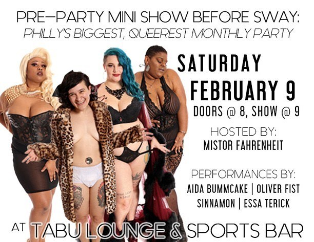 Repost from @sinnamonsspicerack using @RepostRegramApp - You can catch some of us at the Pre-Sway Burlesque Show on 2/9! Link in bio 🙌 @mistorfahrenheit @sinnamonburlyq @the_bummcake @linkboss @essa.terick - @b2bphilly #philadelphiaburlesque #queerburlesque #sinnamonsspicerack #sinnamonburlyq #burlesque #nosetotherhinestone #queerlesque #burlesquedancer #dragqueen #phillydrag #phillyburlesque #thingstodoinphilly #thingstodoinphiladelphia #phillynightlife #phillyqueers #philadelphiaqueers #queerart #varietyshow #clicksave