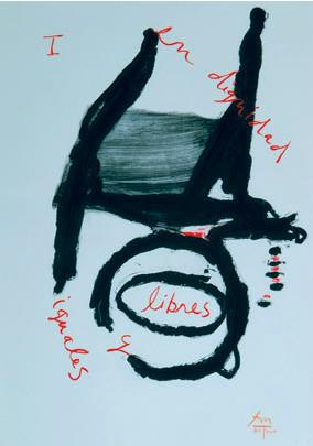 UN Lithograph, Robert Motherwell.