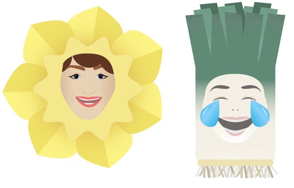 Daffodil Leek headwear
