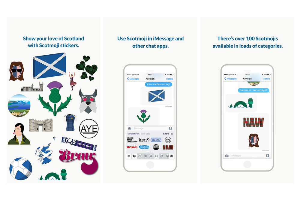 Scotmoji screenshots