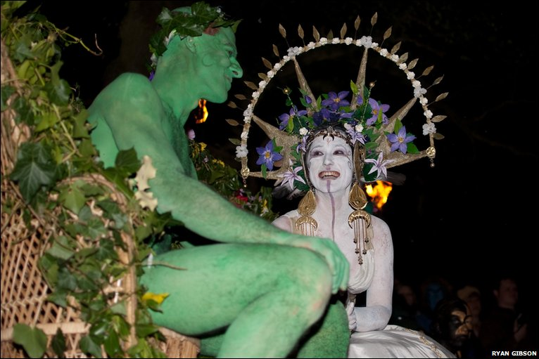 The Green Man and the May Queen. (Photo by Ryan Gibson via bbc.co.uk)
