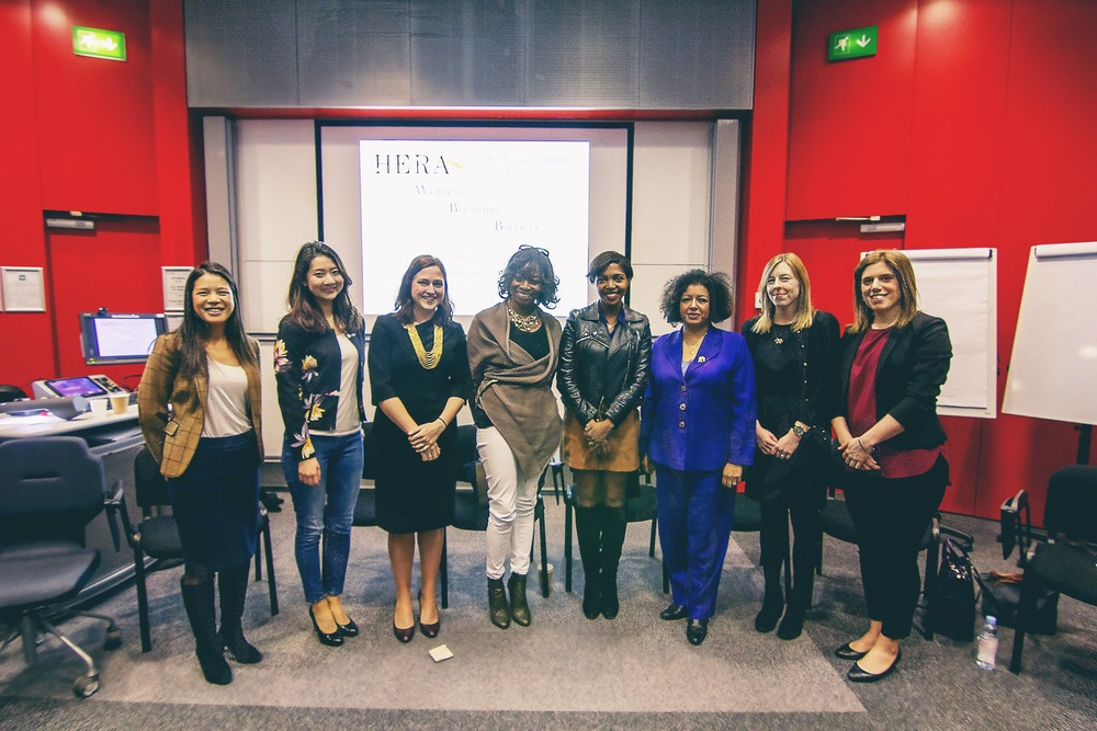 With my fellow panelists at the International Women's Day Panel at HERA hosted by Imperial Business School, London.