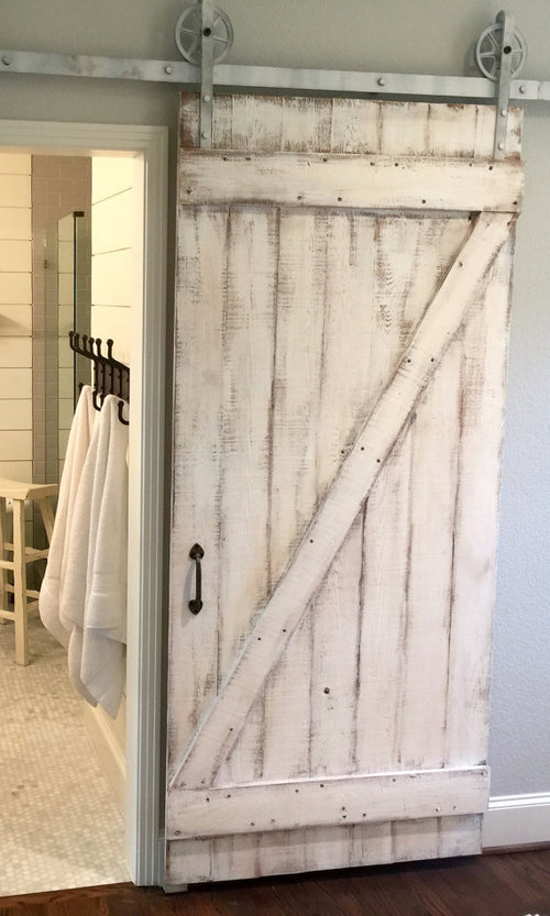 Shabby Chic Z Sliding Barn Door White Barn Door Deborah Anne Designs