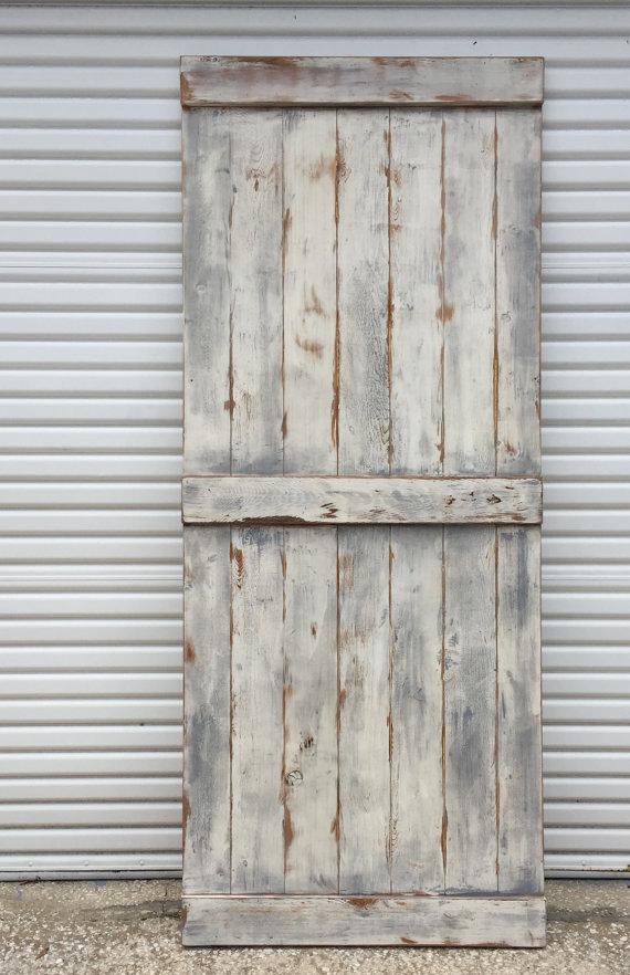 Superbe Custom Farmhouse Sliding Barn Door, Shabby Chic Barn Door