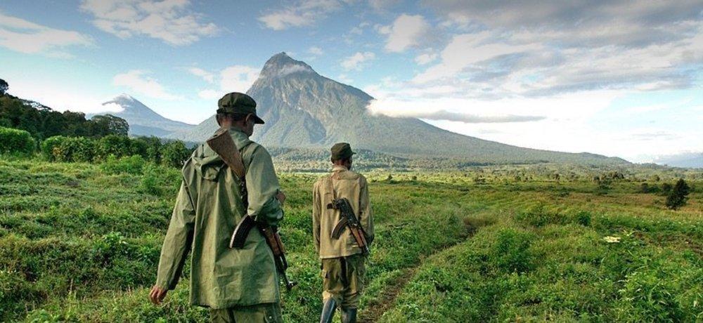 Ranger-Patrouille im Virunga.  © Foto: vnp