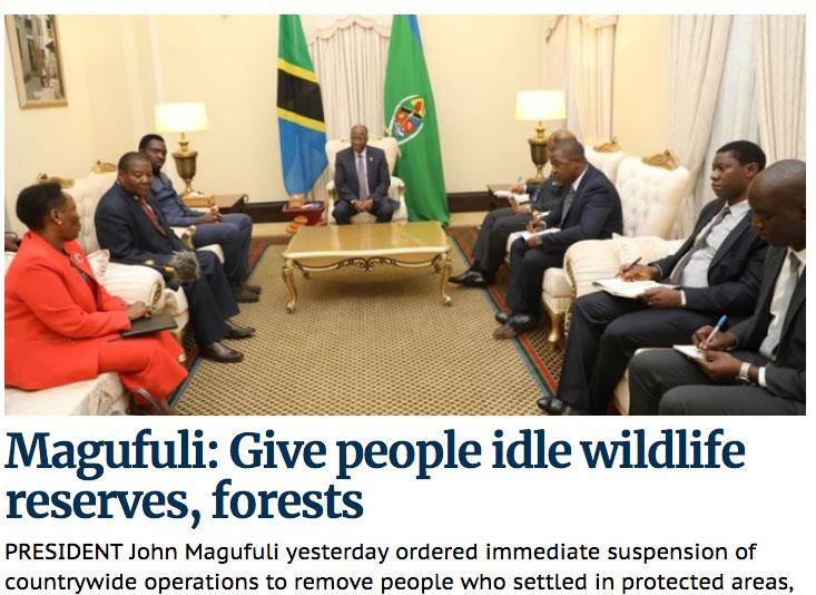 «Ich bin nicht glücklich»: John Magufuli gibt seine Anweisungen |  © Screenshot von «The Guardian»