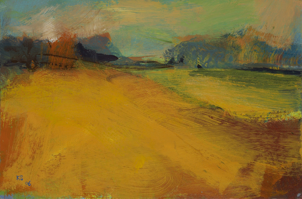 Kitty Stirling|The Field III 2006|acrylic on board|26 x 38cm.medjpg