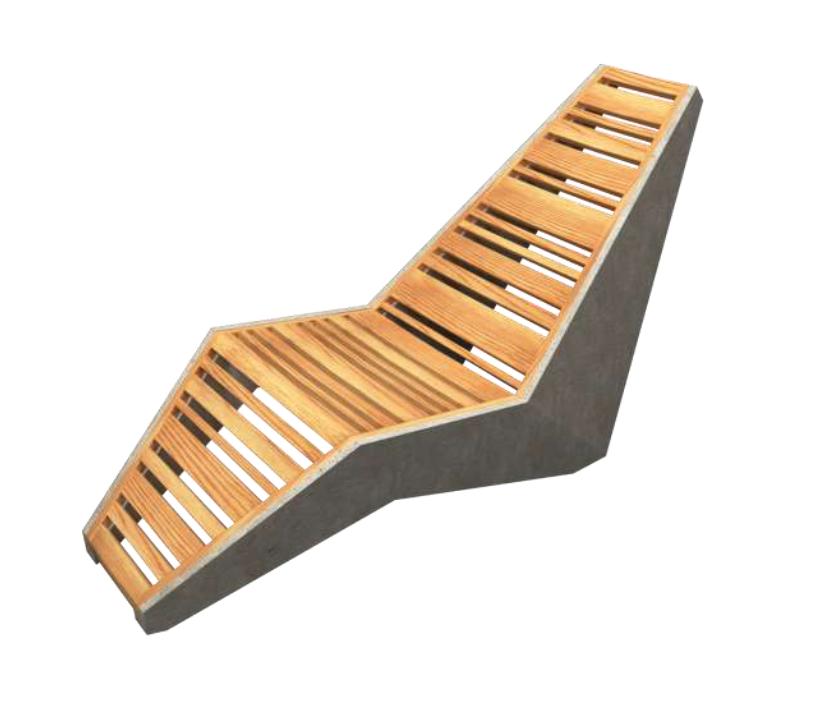 Designer: Jorge Gustavo González Boffil    Project: Tumbona en hormigòn liviano