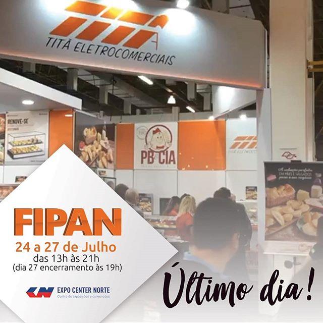 Vem que ainda dá tempo!!! Último dia de FIPAN, estamos com tudo no stand das nossas parceirasTitan e Maquinbal com muitas dicas e delícias.