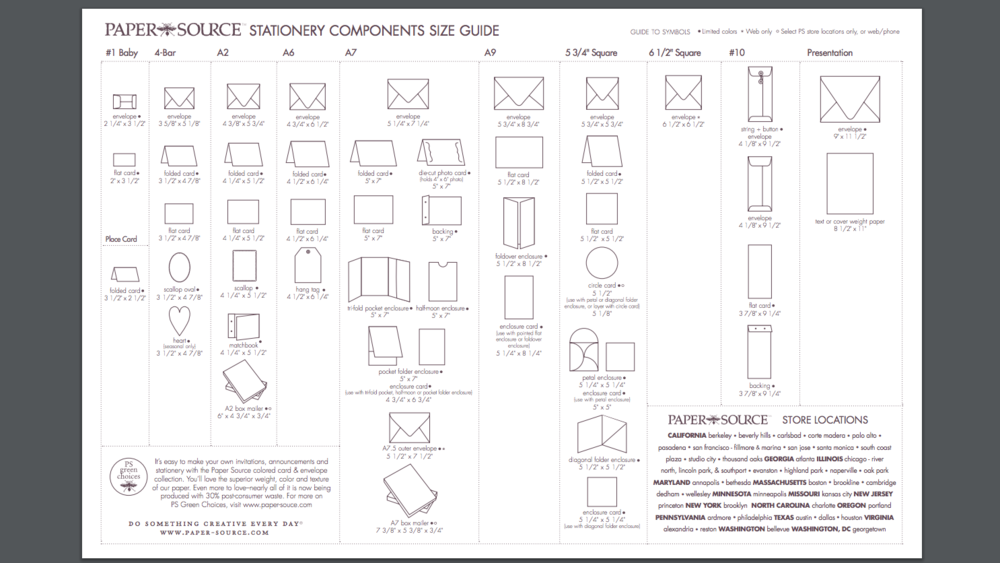 card and envelope size guide stevie driscoll