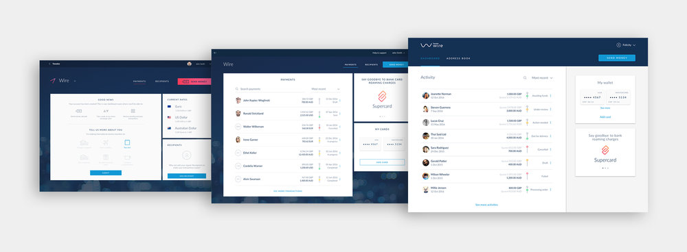 Payments dashboard design evolution